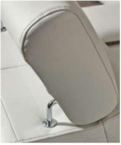 Canapé d'angle convertible 5 places en cuir blanc véritable